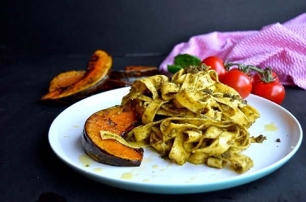 Pesto and Roast Pumpkin Pasta